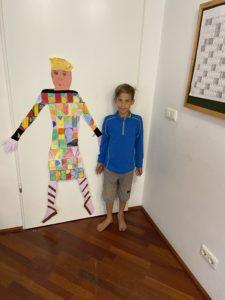 Albi Kovac (Son of Dani) modelling for Joseph and his dream coat.